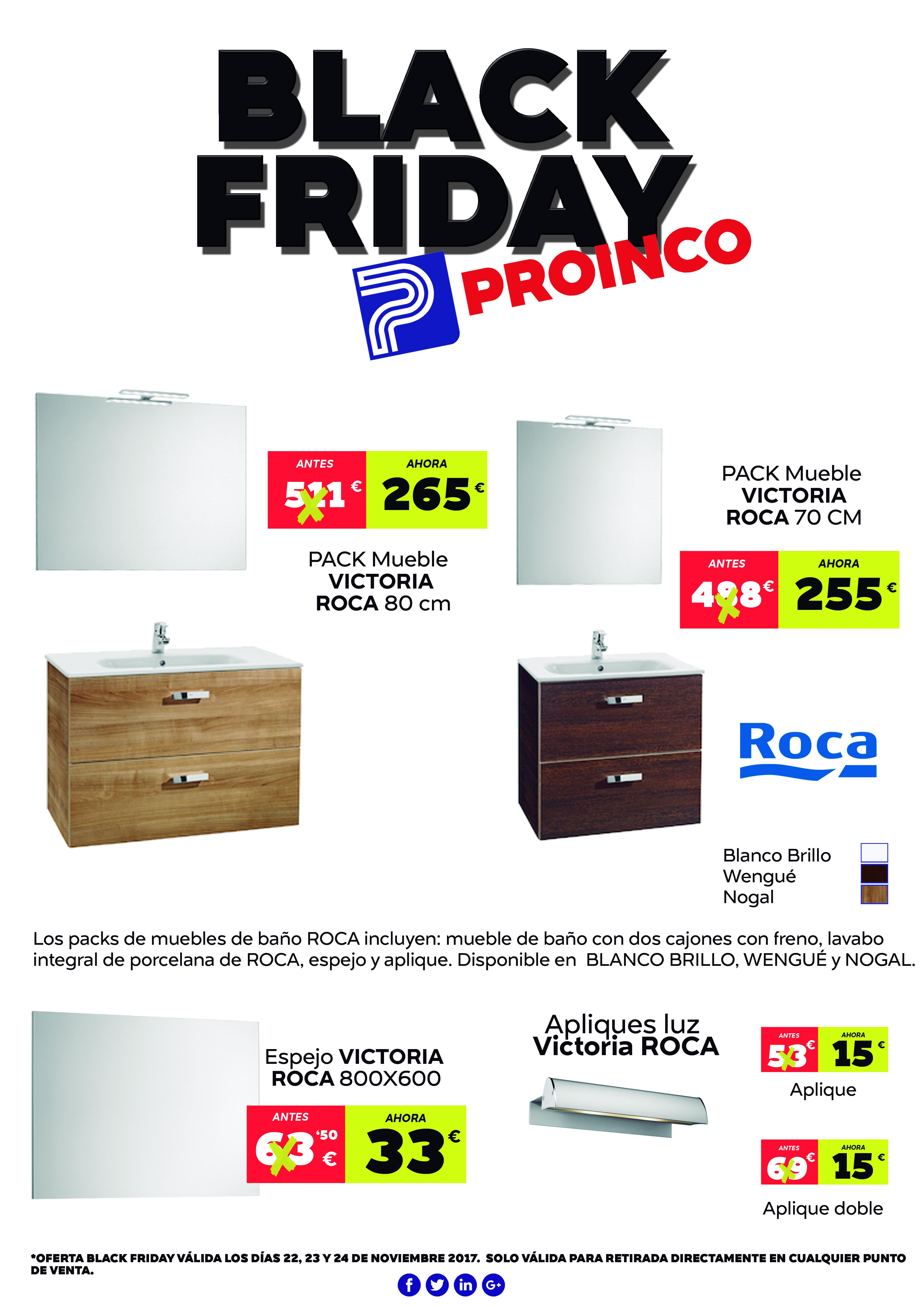 Black Friday muebles de ba o ROCA unidad PROINCO